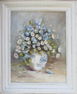 Original Painting - December Blooms - Postage is included Australia Wide
