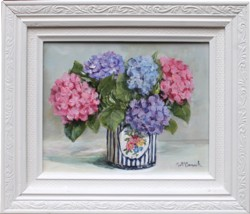 Original Painting - Christmas Hydrangeas - postage included Australia wide