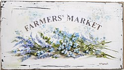 Original Painting on Panel - Farmers Market sign - Postage is included Australia Wide