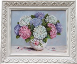 Original Painting - Late December Hydrangeas