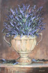 Original Painting on Panel - Lavenders in a Rustic Urn - Postage included Australia wide