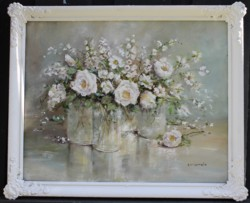 Original Painting - Blooming Whites - SOLD out