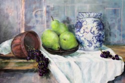 Original Painting on Panel - Still life with Pears - Postage included Australia wide