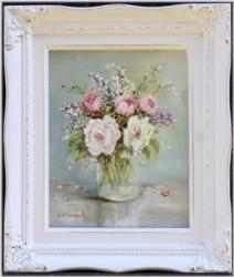 Original Painting - Garden Possie - Postage is included Australia Wide