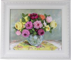 Original Painting - The Rose Arrangement