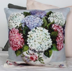 Cushion cover - Late December Hydrangeas - Free Postage Australia Wide