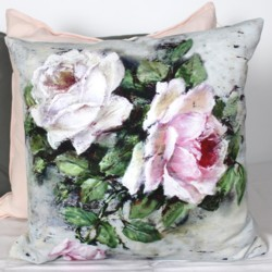 Cushion cover - Shabby Roses - Free Postage Australia Wide