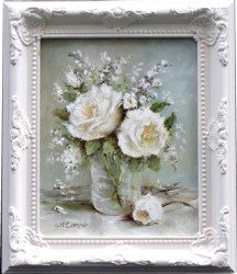 Original Painting - White Roses - Postage is included Australia Wide