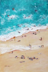 Original Painting on Panel - Swim between the flags - postage included Australia wide