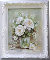 Original Painting - White Blooms - Postage is included Australia Wide