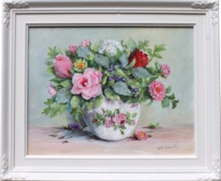 Original Painting - First Autumn Posie - Postage is included in the price Australia wide