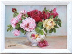 Original Painting - Roses in China - Postage is included Australia Wide