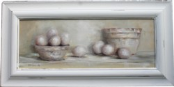 Original Painting - Rustic Bowls & Eggs - Postage is included Australia Wide