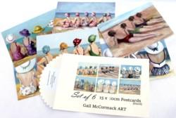 Post card set - Beach Girls