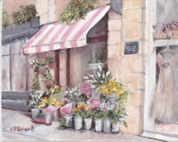 Ready to Frame Print  - Paris Fleurist - Postage is included Worldwide
