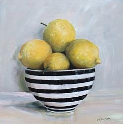 Lemons in Black and White (29 x 29cm) FREE POSTAGE Australia wide