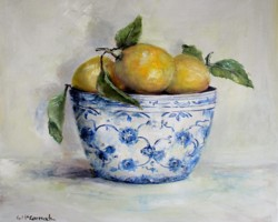 Lemons in Blue & White - Postage is included Australia Wide