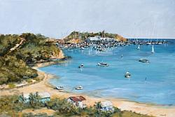 Original Painting on Panel - Mornington Beach