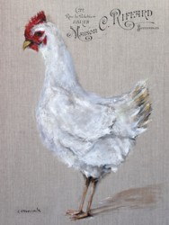 My French White Hen - Available as prints and gift cards