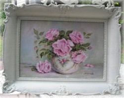 ORIGINAL painting -Gorgeous Frame - Postage is included Australia wide