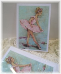 Gift Card-Single card - Miss Pink Ballerina-Free Postage Australia wide only
