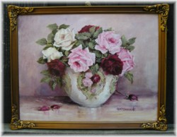 Original Painting-Stunning Assorted Roses-POSTAGE is included Australia wide