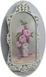 Original Painting - Elegant Long Framed Roses - Postage is included AUSTRALIA wide