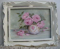 Original Painting-Still Life - Bowl of beautiful pink roses - Free Postage Australia wide