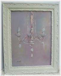 Original Painting- LARGER SIZE - CHANDELIER - Framed -FREE POSTAGE Australia wide