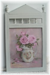 ORIGINAL Painting - Roses in a Cherub Jug - FREE postage Australia wide