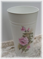Original Painting on Enamel Flower Bucket - Postage is Included Australia Wide