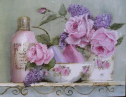 Ready to Frame Print - Rosy Bathroom - Postage is included World Wide