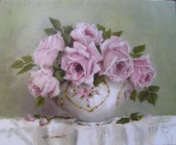 Ready to Frame Print - Elegant Bowl of Roses - Postage is included Australia Wide