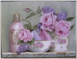 Ready to Hang Print - Rosy Bathroom - POSTAGE included Australia wide