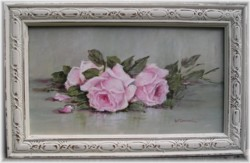 Original Painting - Serene Resting Roses - Postage is included Australia wide