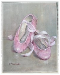 Ready to Frame Print - Vintage Ballet Shoes - Postage is included Australia Wide