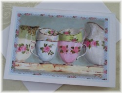 Gift Card-Single card - Vintage China - Free Postage Australia wide only