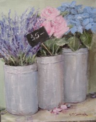 Original Whimsical Painting - Flowers for Sale