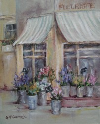 Original French inspired Painting - Fleuriste - Postage is included