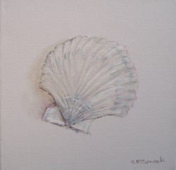 Original Beach Themed Painting - Single Shell - Postage is included Australia wide