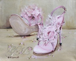 PRINT ON PAPER - Party Shoes - Postage is included Worldwide