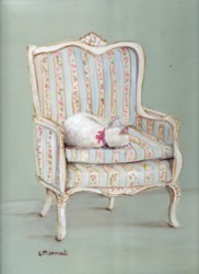 Ready to Frame Print - Snoozing in The Chair - Postage is included Worldwide
