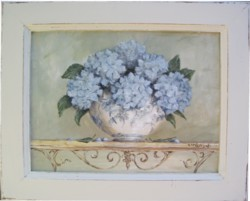 ORIGINAL Painting - Summer Hydrangeas - Postage is included in the price Australia Wide