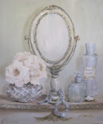 Original Painting on Canvas - The French Dressing Table - Postage is included Australia Wide