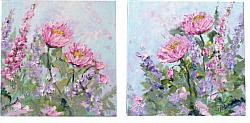 Original Paintings on Canvas -My Cottage Garden - 20 x 20cm series