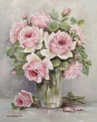 Vintage Pink Roses - Free Postage Australia wide only