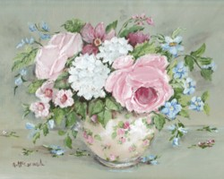Ready to Frame Print  - Mixed Blooms - Postage is included Worldwide
