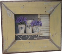 Original Painting - Assorted Lavender on a Shelf - Postage is included in the price Australia wide