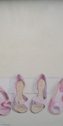Original Whimsical Painting - Assorted Shoes - Postage is included Australia Wide