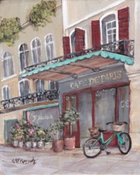 Ready to Frame Print  - A Street in Paris - Postage is included Worldwide